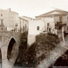 Fotografía antigua: FOTOGRAFÍA ANTIGUA PLACA GELATINO-BROMURO AÑO 1900 LOCALIDAD A IDENTIFICAR. Lote 127666504