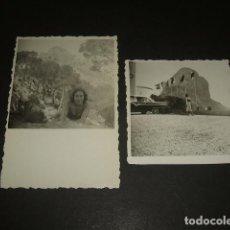 Fotografía antigua: CALPE ALICANTE 1956 2 FOTOGRAFIAS 6 X 6 CMTS. Lote 128150287