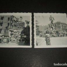 Fotografía antigua: ALICANTE 1957 2 FOTOGRAFIAS HOGUERAS DE SAN JUAN FALLAS 6 X 6 CMTS. Lote 128150383
