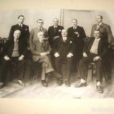 Fotografía antigua: GUADALAJARA GRUPO DE ADMINISTRACION DE OBRAS PUBLICAS DE LA PROVINCIA REYES FOTOGRAFO 1935. Lote 128163775