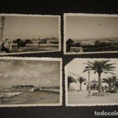 Fotografía antigua: TARRAGONA GUERRA CIVIL 4 FOTOGRAFIAS 6 X 9 CMTS POR SOLDADO ALEMAN DE LA LEGIÓN CÓNDOR. Lote 128180335