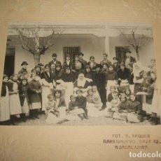 Fotografía antigua: GUADALAJARA GRUPO EN COLEGIO DE HUERFANOS DE GUERRA FOTOGRAFIA HACIA 1910 FOTO ARQUER. Lote 128424095