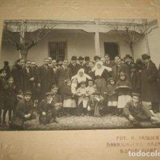 Fotografía antigua: GUADALAJARA HACIA 1910 GRUPO DE AUTORIDADES, MONJAS Y NIÑOS COLEGIO DE HUERFANOS GUERRA FOTO ARQUER. Lote 128510387