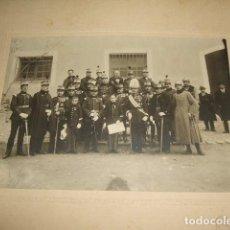 Fotografía antigua: GUADALAJARA HACIA 1910 GRUPO DE MILITARES Y 2 NIÑOS ACADEMIA MILITAR FOTOGRAFIA ARQUER. Lote 128510699