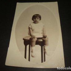 Fotografía antigua: ALMERIA RETRATO DE NIÑA FOTOGRAFO MATEOS HACIA 1930. Lote 128583007