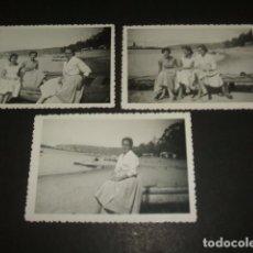 Fotografía antigua: AVILES ASTURIAS 3 FOTOGRAFIAS. Lote 128672863