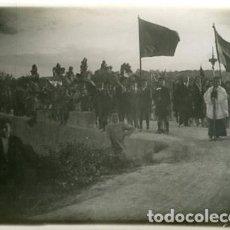 Fotografía antigua: VILLAGORDO DEL JÚCAR (ALBACETE). 1927. RECUERDO DE LA BENDICION Y TRASLADO DE LA IMAGEN EL 8 MAYO.. Lote 129250811