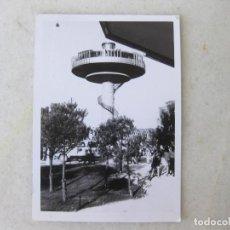 Fotografía antigua: FOTOGRAFÍA FECHADA EN 1969 DE LA TORRE MIRADOR DEL PARQUE DE ATRACCIONES DE MADRID. Lote 131932850