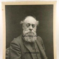 Fotografía antigua: EL BARÓN DE GÜELL, EUSEBI GÜELL, GRAN FOTOGRAFÍA DE AUDOUARD, BARCELONA. 44 X 58 CM.. Lote 132557070