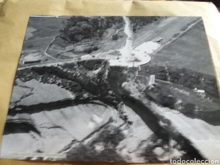 GRAN FOTOGRAFIA AEREA 30 X 23 CM CABO MAYO FARO CANTABRIA SANTANDER AÑOS 60 (Fotografía Antigua - Gelatinobromuro)