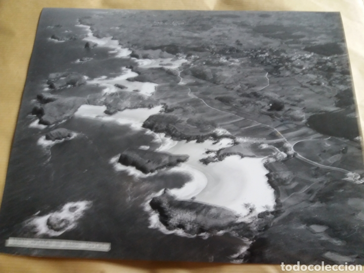 GRAN FOTOGRAFIA AEREA 30 X 23 CM OVIEDO ASTURIAS PLAYAS DE BARRO AÑOS 60 (Fotografía Antigua - Gelatinobromuro)
