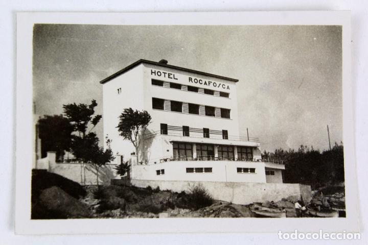 F-3848. ANTIGUO HOTEL ROCAFOSCA. LA FOSCA. PALAMÓS. AÑO 1935. (Fotografía Antigua - Gelatinobromuro)