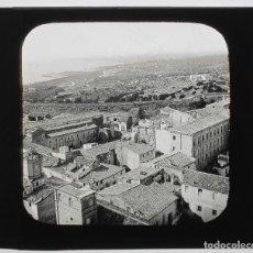 Fotografía antigua: TARRAGONA, VISTA GENERAL, CRISTAL POSITIVO 8X8 CM. . Lote 133638030