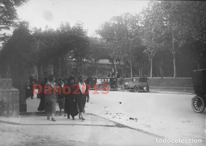 PASEO DE RECOLETOS 1927 MADRID - FOTOGRAFIA ANTIGUA - NEGATIVO DE CRISTAL (Fotografía Antigua - Gelatinobromuro)
