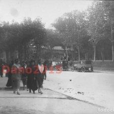 Fotografía antigua: PASEO DE RECOLETOS 1927 MADRID - FOTOGRAFIA ANTIGUA - NEGATIVO DE CRISTAL. Lote 133742302