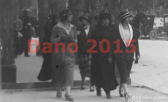 Fotografía antigua: Paseo de Recoletos 1927 Madrid - Fotografia Antigua - Negativo de Cristal - Foto 2 - 133742302