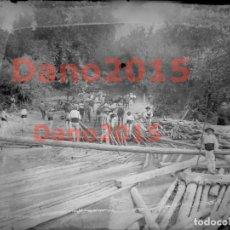 Fotografía antigua: GANCHEROS DE PRIEGO - FOTOGRAFIA ANTIGUA PRINCIPIO DE SIGLO - NEGATIVO DE CRISTAL. Lote 134335778
