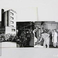 Fotografía antigua: CONJUNTO DE 3 FOTOGRAFÍAS DE LA FÁBRICA NESTLÉ DE VILLAVICIOSA, ASTURIAS - AÑO 1977 - CHOCOLATE. Lote 134471774
