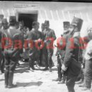 Fotografía antigua: NAVALCARNERO 1920 REY ALFONSO XIII Y GENERAL MARINA - NEGATIVO DE CRISTAL . Lote 134718870