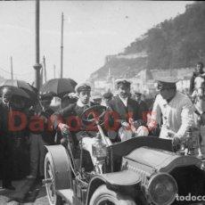 Fotografía antigua: ALFONSO XIII EN SANTANDER - NEGATIVO DE CRISTAL - FOTOGRAFIA ANTIGUA. Lote 135390158