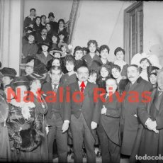 Fotografía antigua: NATALIO RIVAS, MINISTRO DE INSTRUCCION PÚBLICA 1917 - NEGATIVO DE CRISTAL - FOTOGRAFÍA ANTIGUA. Lote 135562458