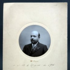 Fotografía antigua: FOTOGRAFÍA RETRATO CABALLERO BIGOTE BARBA FRANZEN MADRID 1914. Lote 137325986