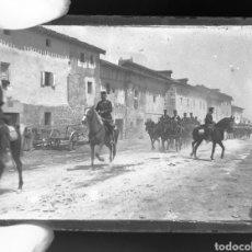 Fotografía antigua - Placa de cristal gelatino-bromuro 1900-10 Ejercicio Español Alfonso XIII - 137444188