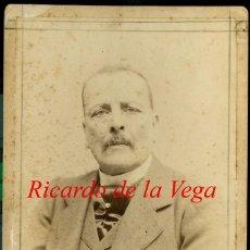 Fotografía antigua: RICARDO DE LA VEGA - 1900 - FOTOGRAFIA AUDOUARD - COMPOSITOR DE LA VERBENA DE LA PALOMA. Lote 137724006