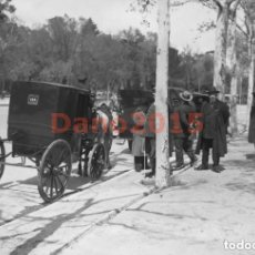 Fotografía antigua: COCHE DE CABALLOS 1930 MADRID PARQUE DEL RETIRO - NEGATIVO DE CRISTAL - FOTOGRAFIA ANTIGUA. Lote 139215450