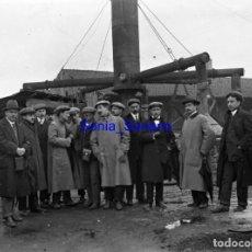 Fotografía antigua: LUANCO O CANDAS, PUERTO. GIJON, ASTURIAS - CRISTAL NEGATIVO PRINCIPIO DE 1900 - C.1910. Lote 139716642
