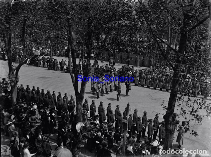 JURA DE BANDERA EN GIJON, ASTURIAS - CRISTAL NEGATIVO - AÑO 1910 (Fotografía Antigua - Gelatinobromuro)