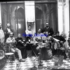 Fotografía antigua: PALACIO TORRE VELLISCA, VALENCIA - CRISTAL NEGATIVO - PRINCIPIO 1900. Lote 139735626