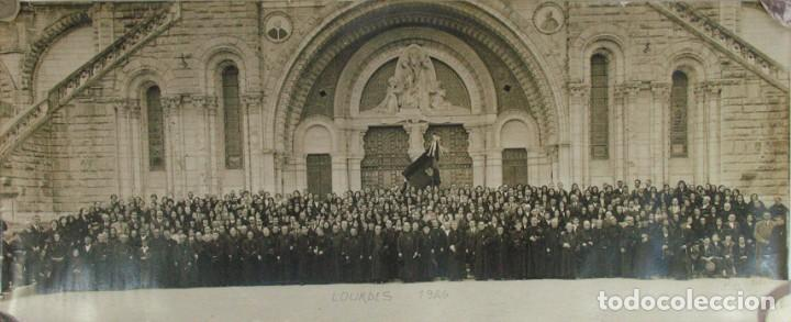 VIRON. PEREGRINOS RELIGIOSOS ASTURIANOS EN LOURDES. 1926. ASTURIAS (Fotografía Antigua - Gelatinobromuro)