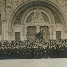 Fotografía antigua: VIRON. PEREGRINOS RELIGIOSOS ASTURIANOS EN LOURDES. 1926. ASTURIAS. Lote 139748542