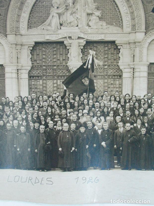 Fotografía antigua: VIRON. PEREGRINOS RELIGIOSOS ASTURIANOS EN LOURDES. 1926. ASTURIAS - Foto 2 - 139748542