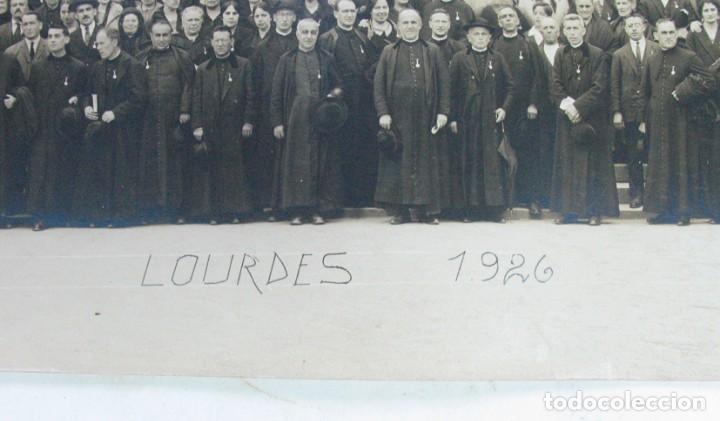 Fotografía antigua: VIRON. PEREGRINOS RELIGIOSOS ASTURIANOS EN LOURDES. 1926. ASTURIAS - Foto 3 - 139748542