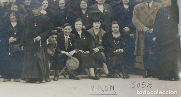Fotografía antigua: VIRON. PEREGRINOS RELIGIOSOS ASTURIANOS EN LOURDES. 1926. ASTURIAS - Foto 4 - 139748542