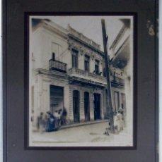 Fotografía antigua: 4 FOTOGRAFIAS DE NEGOCIOS Y DE TUMBA LA CARRIONA DE UN EMIGRANTE DE AVILES EN CUBA. H.1920. ASTURIAS. Lote 139748974