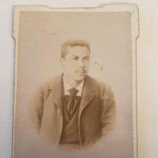 Fotografía antigua: RETRATO DE HOMBRE, FINALES SIGLO XIX. Lote 139963910