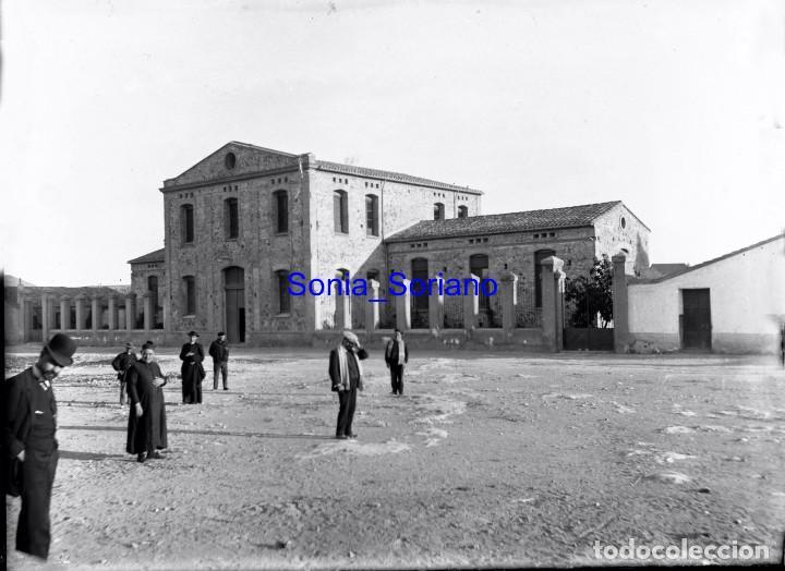 HOSPITAL ALMASSORA? CASTELLON. CRISTAL NEGATIVO - PRINCIPIO 1900 (Fotografía Antigua - Gelatinobromuro)