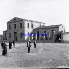 Fotografía antigua: HOSPITAL ALMASSORA? CASTELLON. CRISTAL NEGATIVO - PRINCIPIO 1900. Lote 140026114