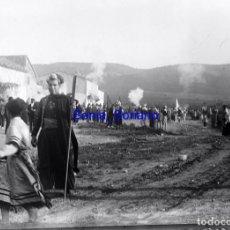 Fotografía antigua: ALMANSA? ALBACETE MOROS Y CRISTIANOS - CRISTAL NEGATIVO - PRINCIPIO DE 1900. Lote 140276806