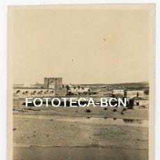 Fotografía antigua: FOTO ORIGINAL CORDOBA PUENTE ROMANO DE LA CALAHORRA RIO GUADALQUIVIR AÑOS 30. Lote 140719434