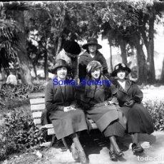 Fotografía antigua: GIJON?, ASTURIAS. CRISTAL NEGATIVO - C.1900. Lote 140754422
