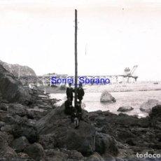 Fotografía antigua: GIJON, ASTURIAS. CRISTAL NEGATIVO C.1900. Lote 140769278