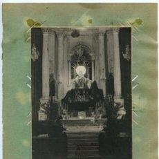 Fotografía antigua: MAHÓN, MENORCA, RETABLO IGLESIA DEL CARMEN, 1919, OTRAS TRES FOTOS AL DORSO. Lote 140799022