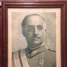 Fotografía antigua: RETRATO DE FRANCISCO FRANCO CON MARCO, DE SU EPOCA, JALON ANGEL, ZARAGOZA. Lote 198511820