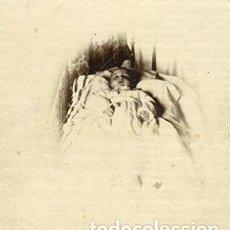 Fotografía antigua: POSTMORTEM. TRISTE FOTOGRAFÍA DE NIÑO MUERTO. 1909. Lote 141717834