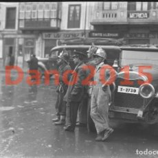 Fotografía antigua: BOMBEROS SANTANDER - NEGATIVO DE CRISTAL - FOTOGRAFIA ANTIGUA. Lote 142036050