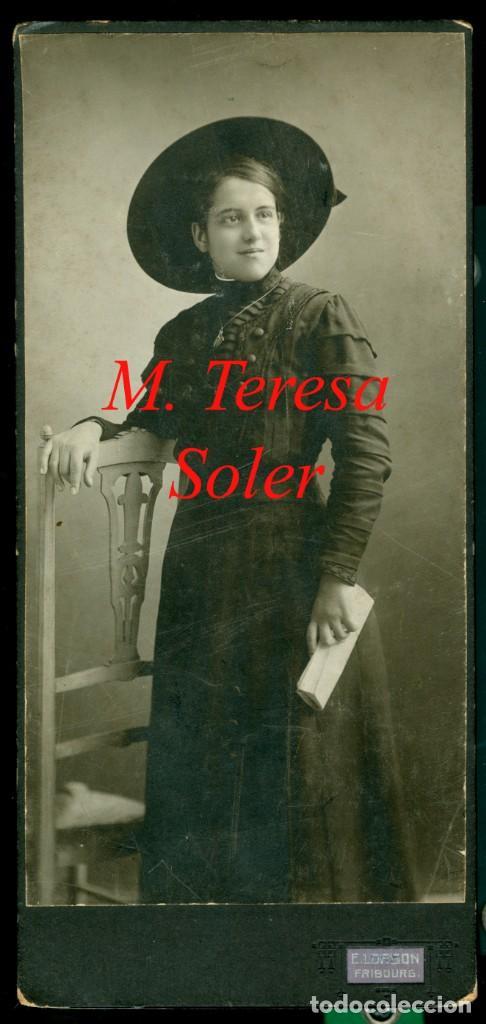 RETRATO - 1910 - 1920 - M. TERESA SOLER - FOTOGRAFIA E. LORSON (Fotografía Antigua - Gelatinobromuro)